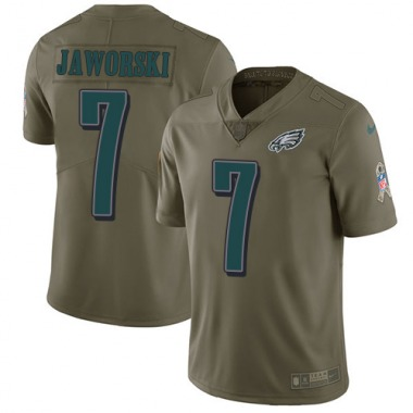 Men's Nike Philadelphia Eagles Ron Jaworski 2017 Salute to Service Jersey - Olive Limited