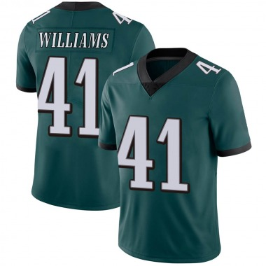 Men's Nike Philadelphia Eagles Trevor Williams Midnight Team Color Vapor Untouchable Jersey - Green Limited