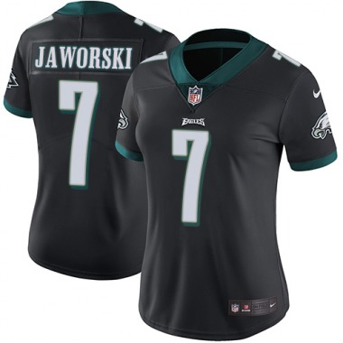 Women's Nike Philadelphia Eagles Ron Jaworski Alternate Jersey - Black Limited