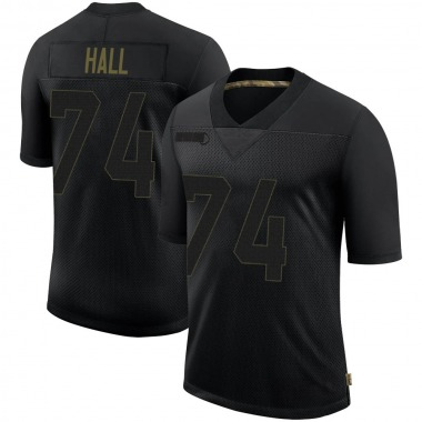 Youth Nike Philadelphia Eagles Daeshon Hall 2020 Salute To Service Jersey - Black Limited