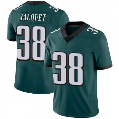 Youth Nike Philadelphia Eagles Michael Jacquet Midnight 100th Vapor Jersey - Green Limited