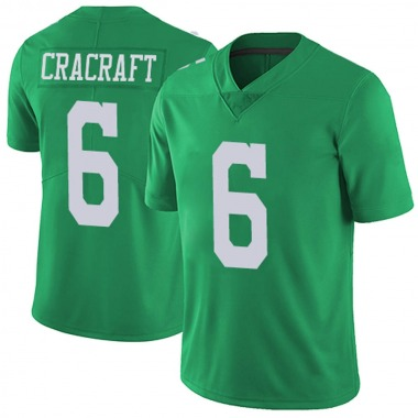 Youth Nike Philadelphia Eagles River Cracraft Vapor Untouchable Jersey - Green Limited